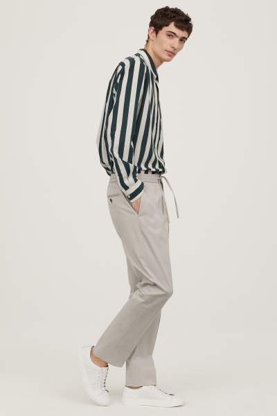 Elasticized Cotton Pants