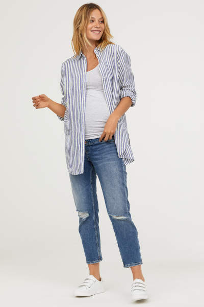 MAMA Slim Ankle Jeans