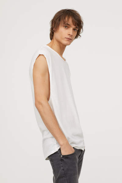 Raw-edge Tank Top