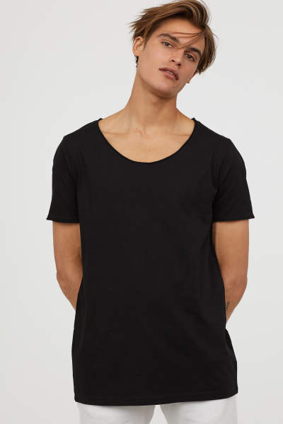 T-shirt with Low-cut Neckline