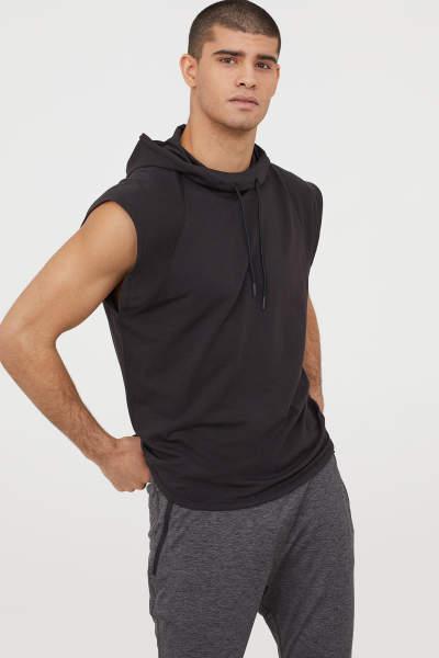 Buy Sleeveless Hooded Shirt!