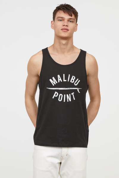 Tank Top with Printed Motif