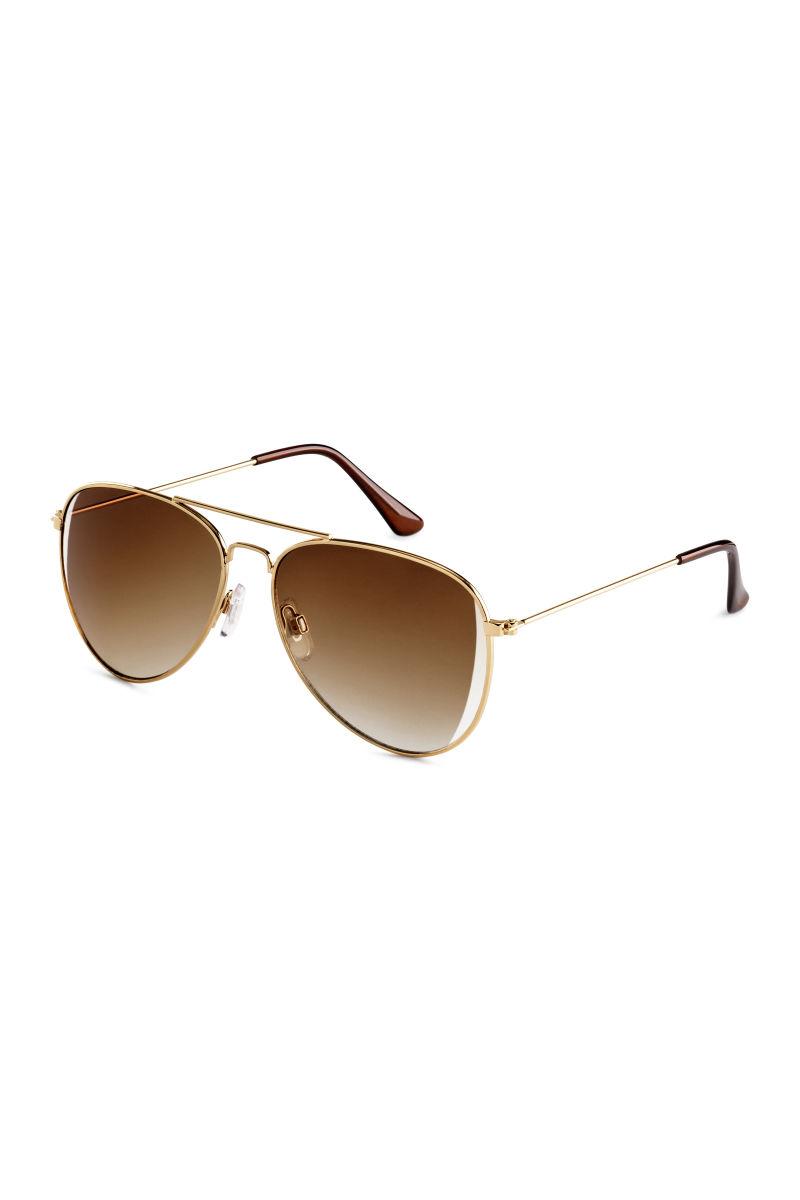 sunglasses gold colored sale h m us. Black Bedroom Furniture Sets. Home Design Ideas
