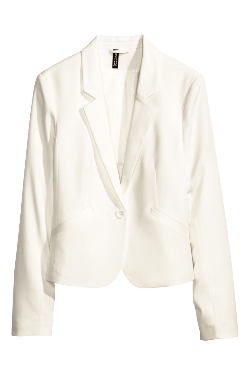 fitted blazer white sale h m us. Black Bedroom Furniture Sets. Home Design Ideas