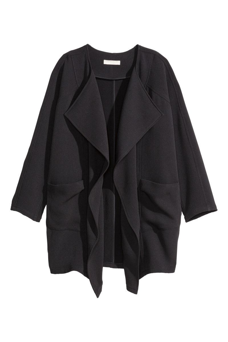 front dezzal dp women womens jacket asymmetrical product s leather panel draped drapes faux ttw description open