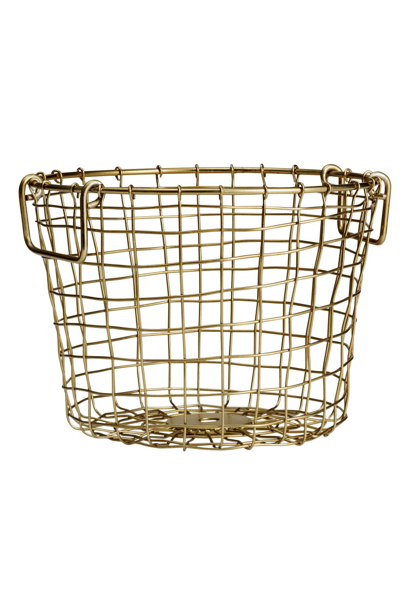 Small Wire Basket | Gold-colored | SALE | H&M US