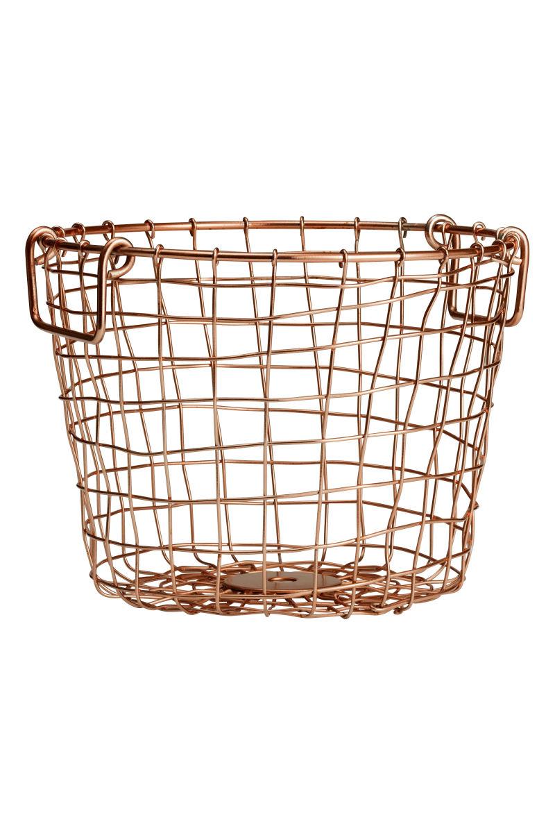 Small Wire Basket | Copper-colored | SALE | H&M US