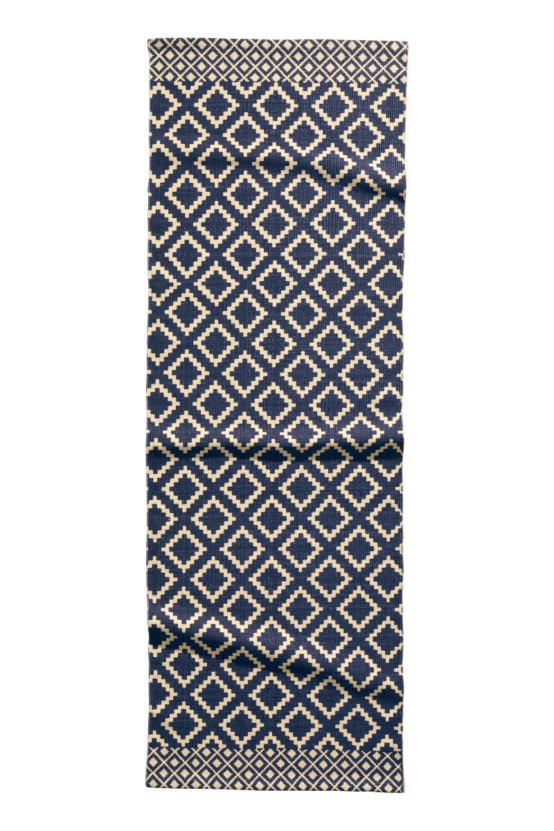 patterned cotton rug nat white dk blue h m home h m us. Black Bedroom Furniture Sets. Home Design Ideas