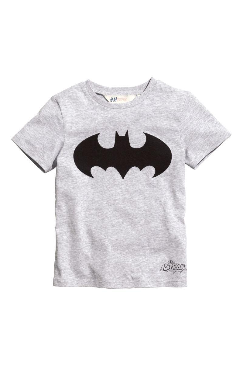 T Shirt With Printed Design Light Gray Batman Sale H