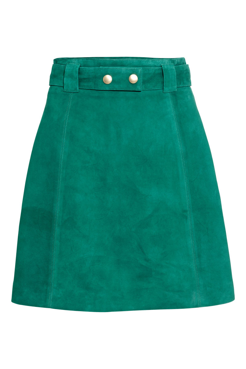 Suede Skirt | Green | SALE | H&M US