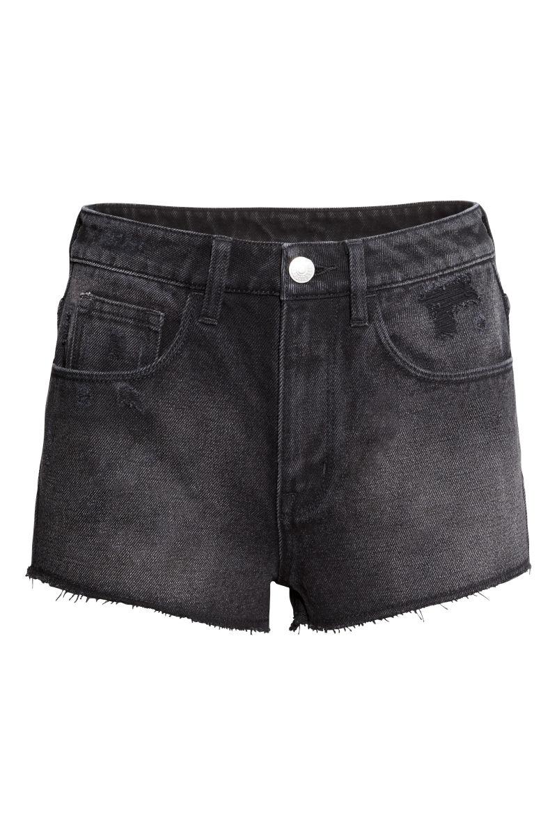 Denim Shorts High waist | Black | SALE | Hu0026M US