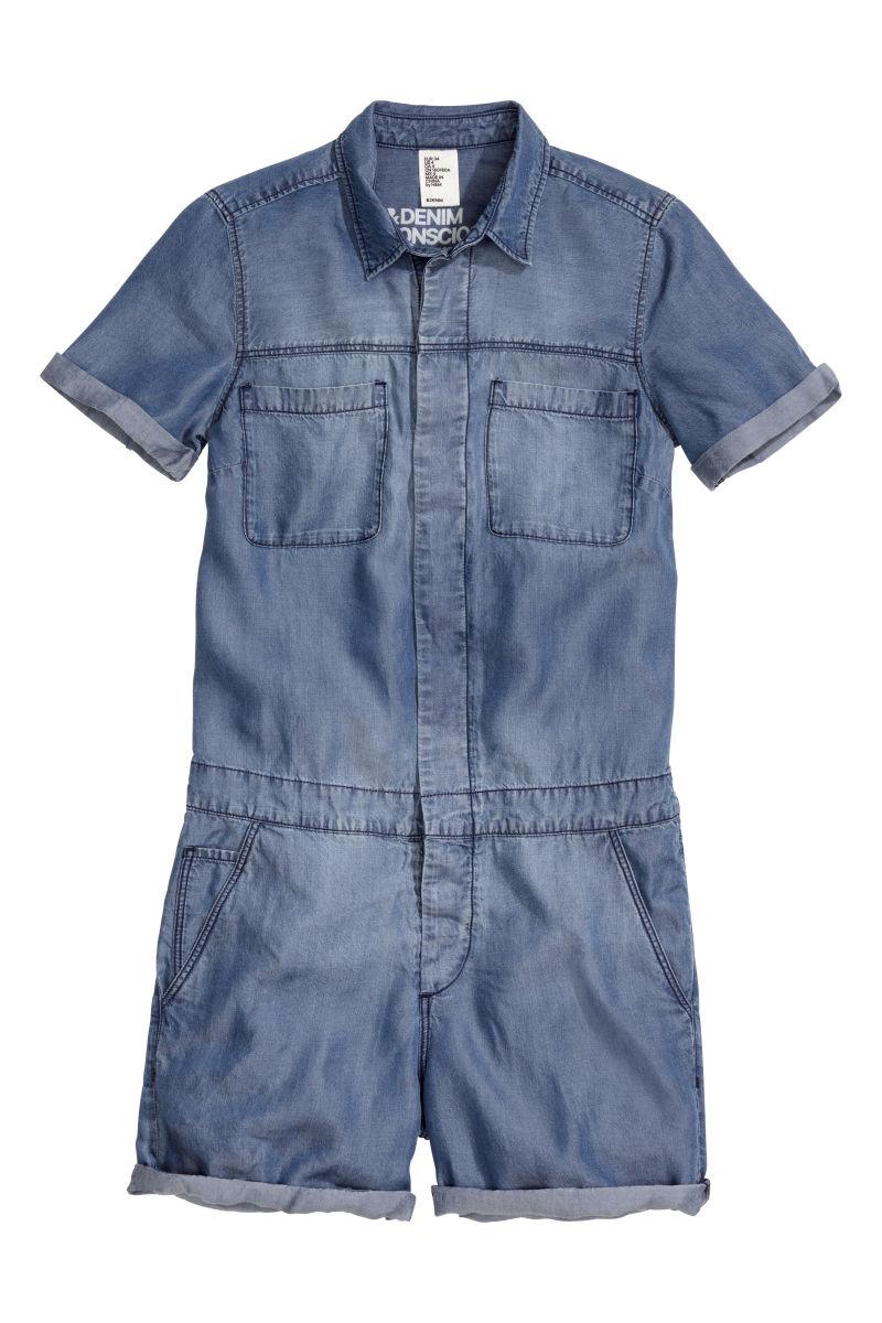 denim jumpsuit denim blue women h m us. Black Bedroom Furniture Sets. Home Design Ideas