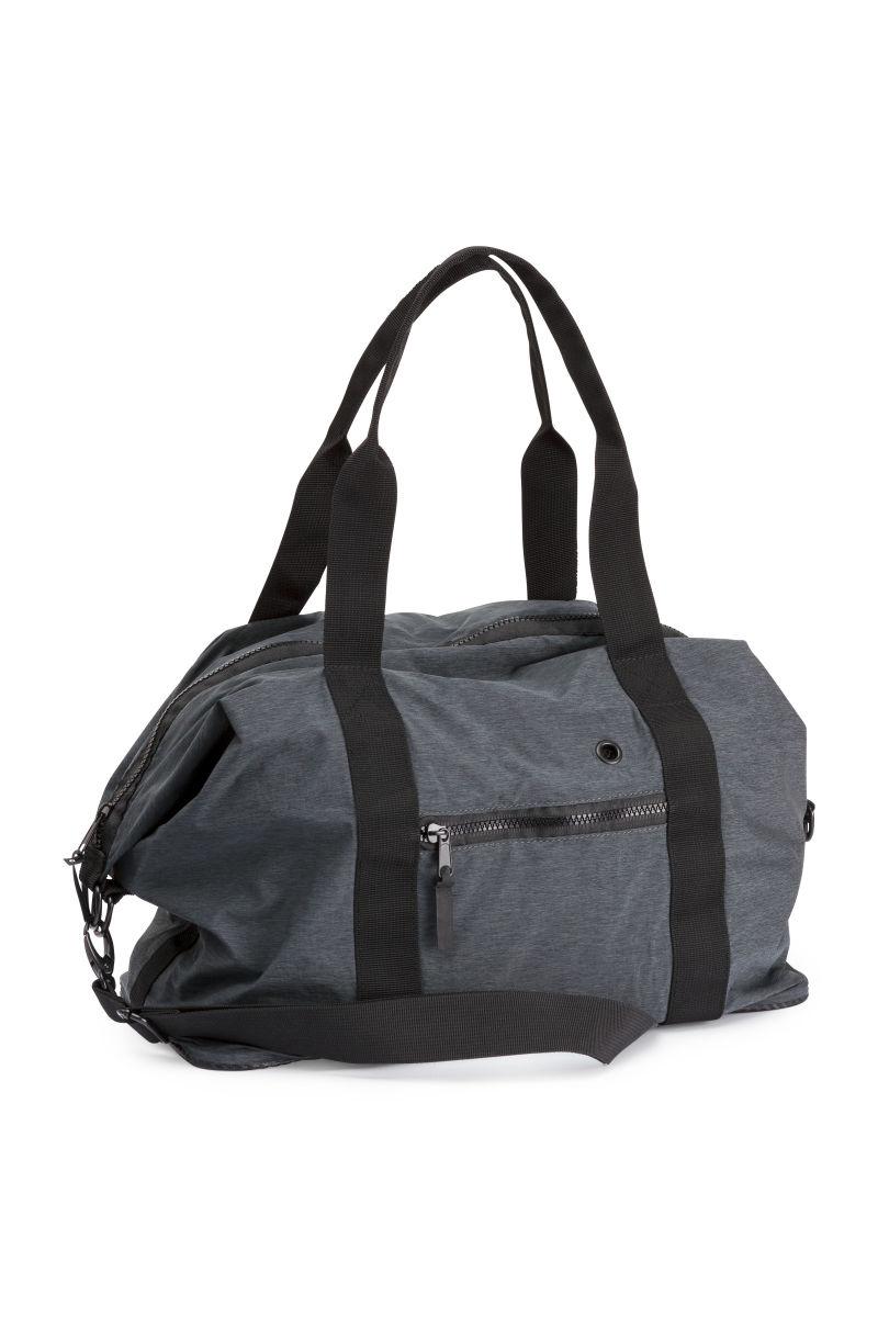 sports bag dark gray melange sale h m us. Black Bedroom Furniture Sets. Home Design Ideas