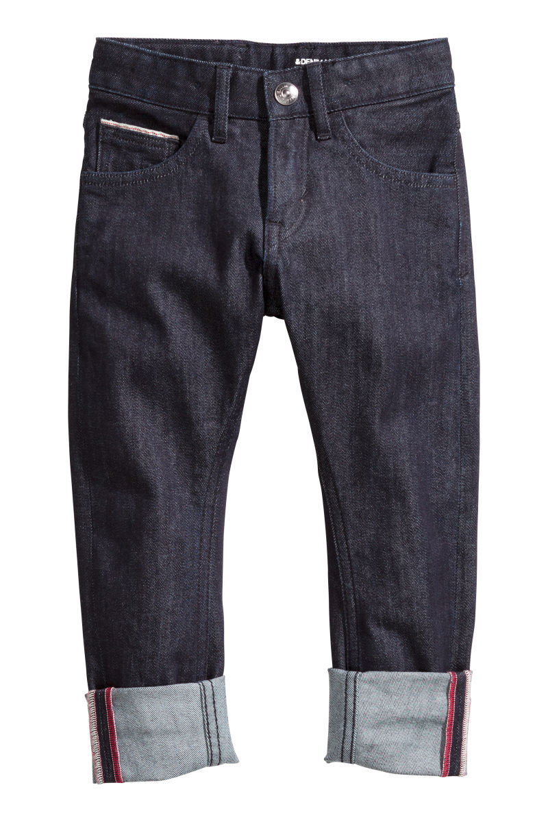 Tapered jeans dark denim blue sale h m us for Ct fletcher its still your set shirt