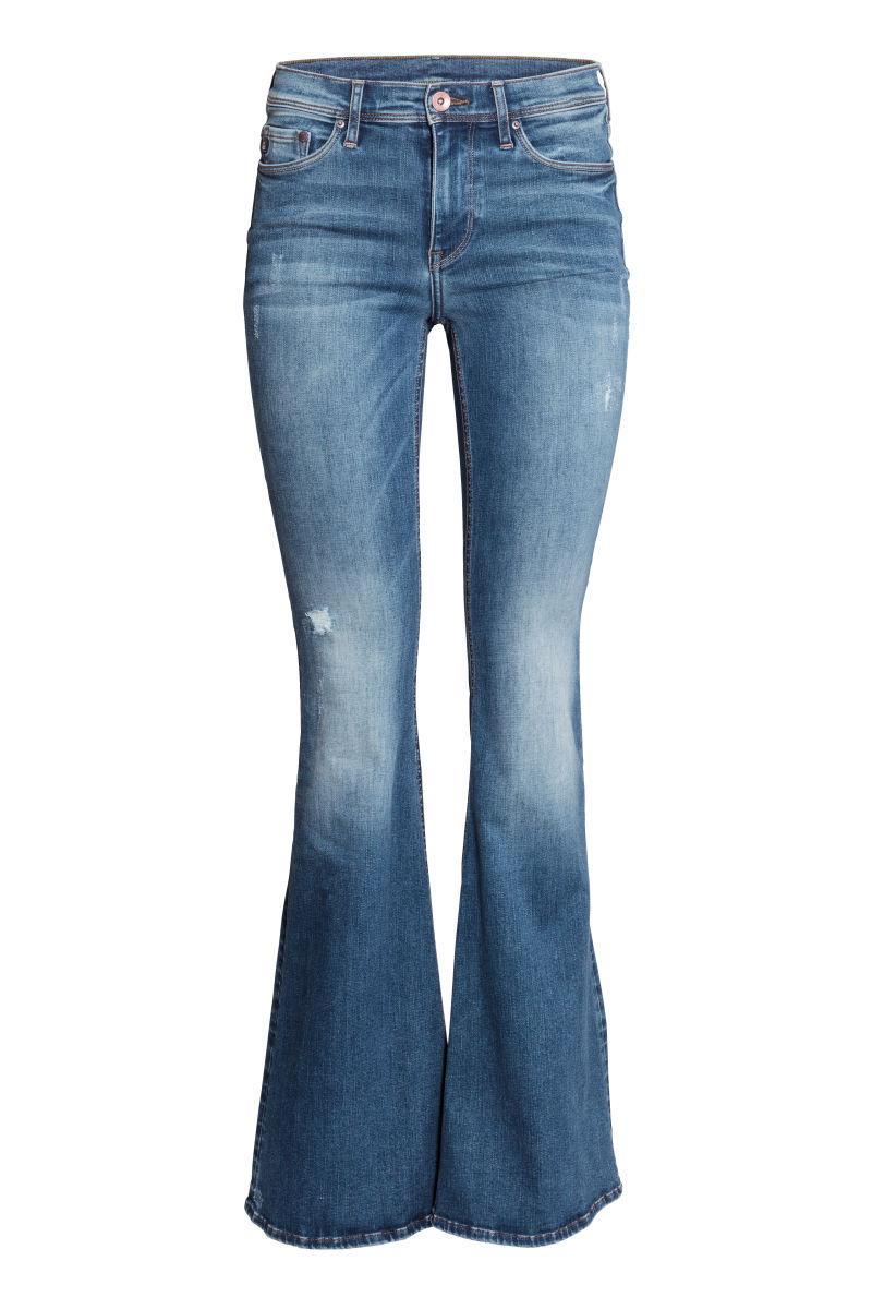 shaping flare regular jeans denim blue sale h m us. Black Bedroom Furniture Sets. Home Design Ideas