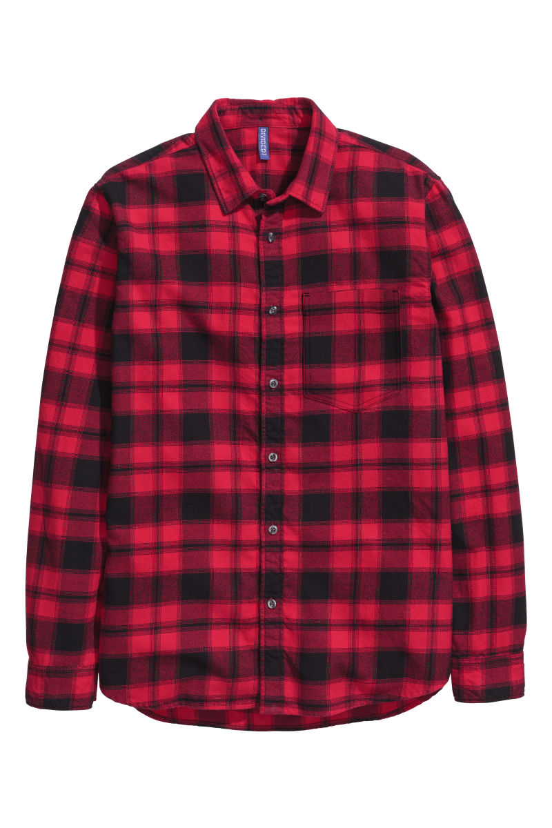 Flannel Shirt Red Plaid Sale H M Us