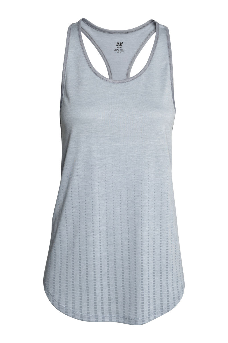sports tank top gray burnout women h m us. Black Bedroom Furniture Sets. Home Design Ideas