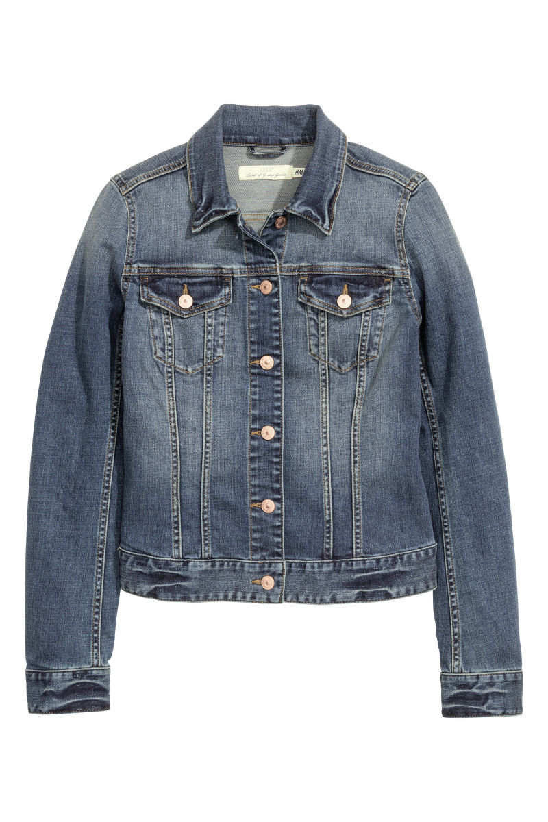 Denim Jacket | Dark denim blue | WOMEN | Hu0026M US