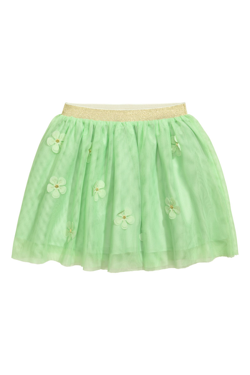 Tulle Skirt With Flowers