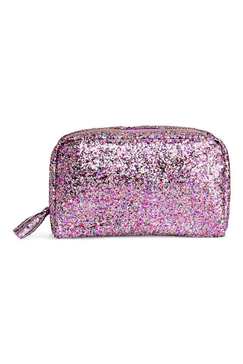 Makeup Bag | Pink/glitter | SALE | H&M US