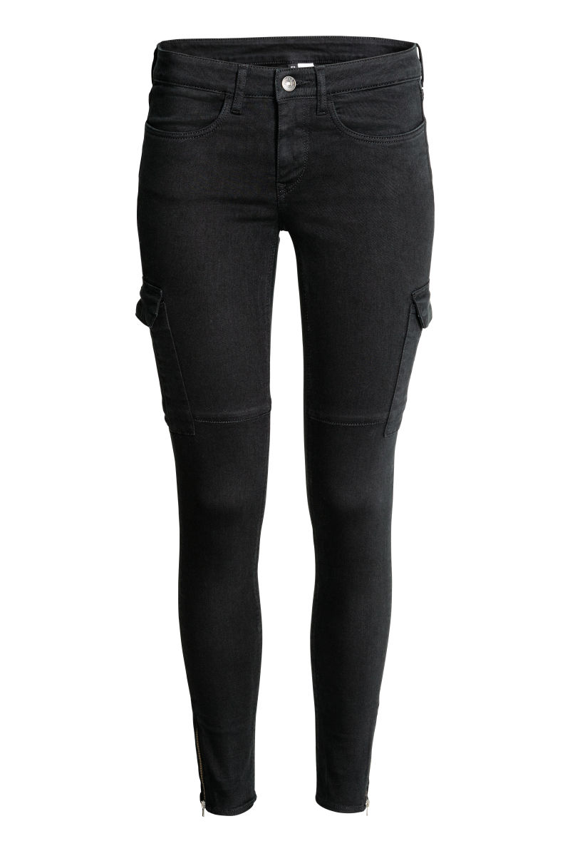 cargo pants black sale h m us. Black Bedroom Furniture Sets. Home Design Ideas