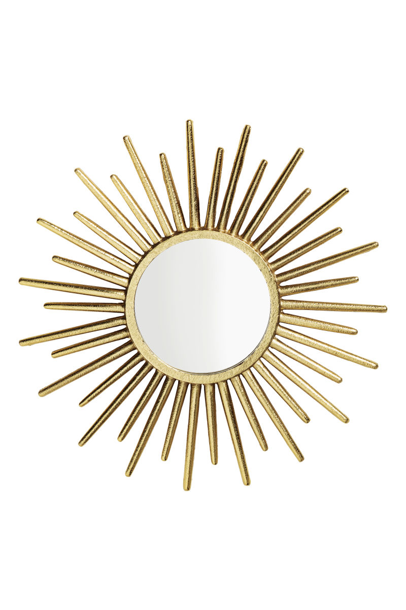 Round mirror gold colored h m home h m us for Miroir activation code