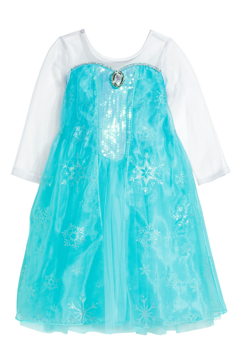 princess dress with cape turquoise frozen sale h m us. Black Bedroom Furniture Sets. Home Design Ideas