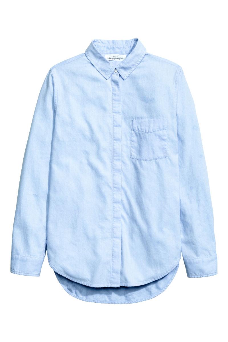 Flannel Shirt Light Blue Sale H M Us