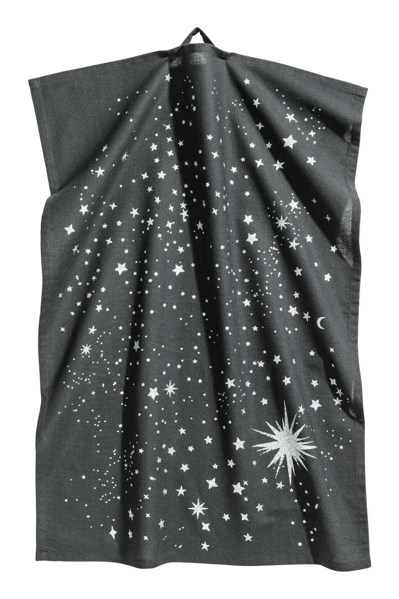 Weihnachts-Geschirrtuch   Anthrazit/Sterne   SALE   H&M DE