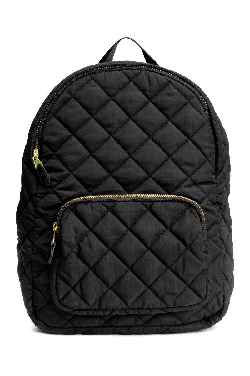 Quilted Backpack | Black | SALE | H&M US : black quilted rucksack - Adamdwight.com