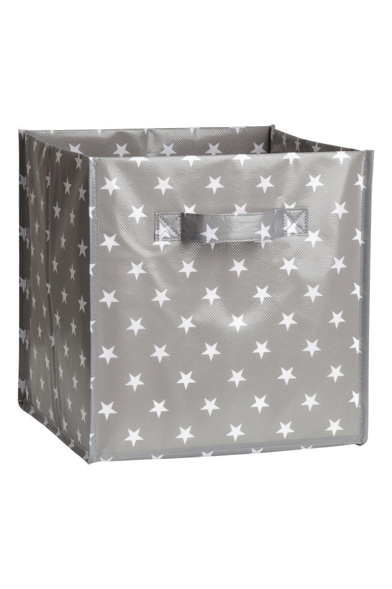 storage box gray stars h m home h m us. Black Bedroom Furniture Sets. Home Design Ideas