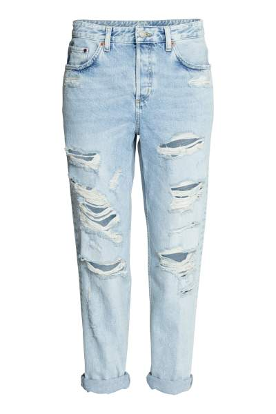 e54f93ec316 Boyfriend Low Ripped Jeans on sale at H&M for $18.99 was $39.99, 53% off