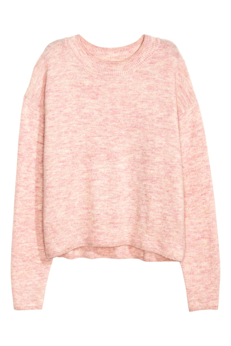 pin with pink gold pastels light long sleeves heart fine m sequin h knit sweater