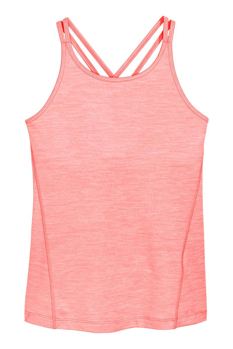 camisole sports top light neon pink melange sale h m us. Black Bedroom Furniture Sets. Home Design Ideas