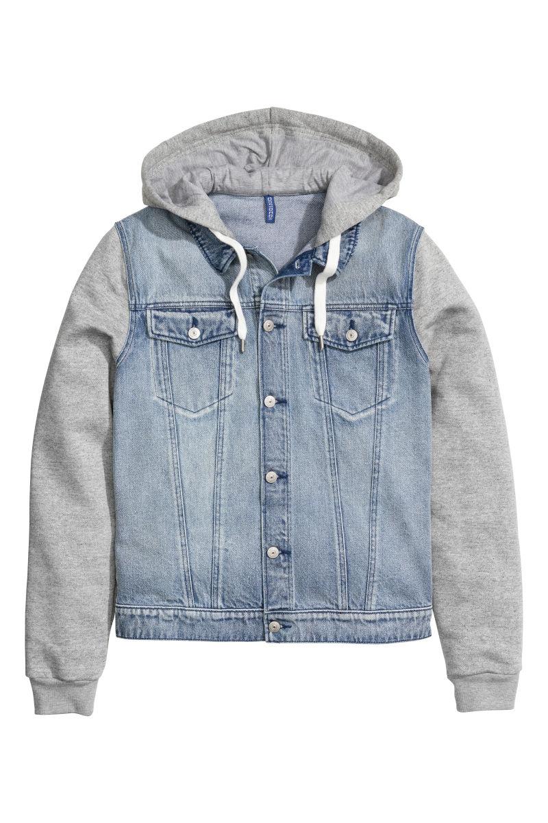 Hooded Denim Jacket | Denim blue | SALE | Hu0026M US