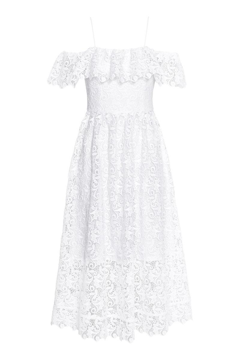H&m Kleid Weiß Spitze – Mode-Modell Geschichte