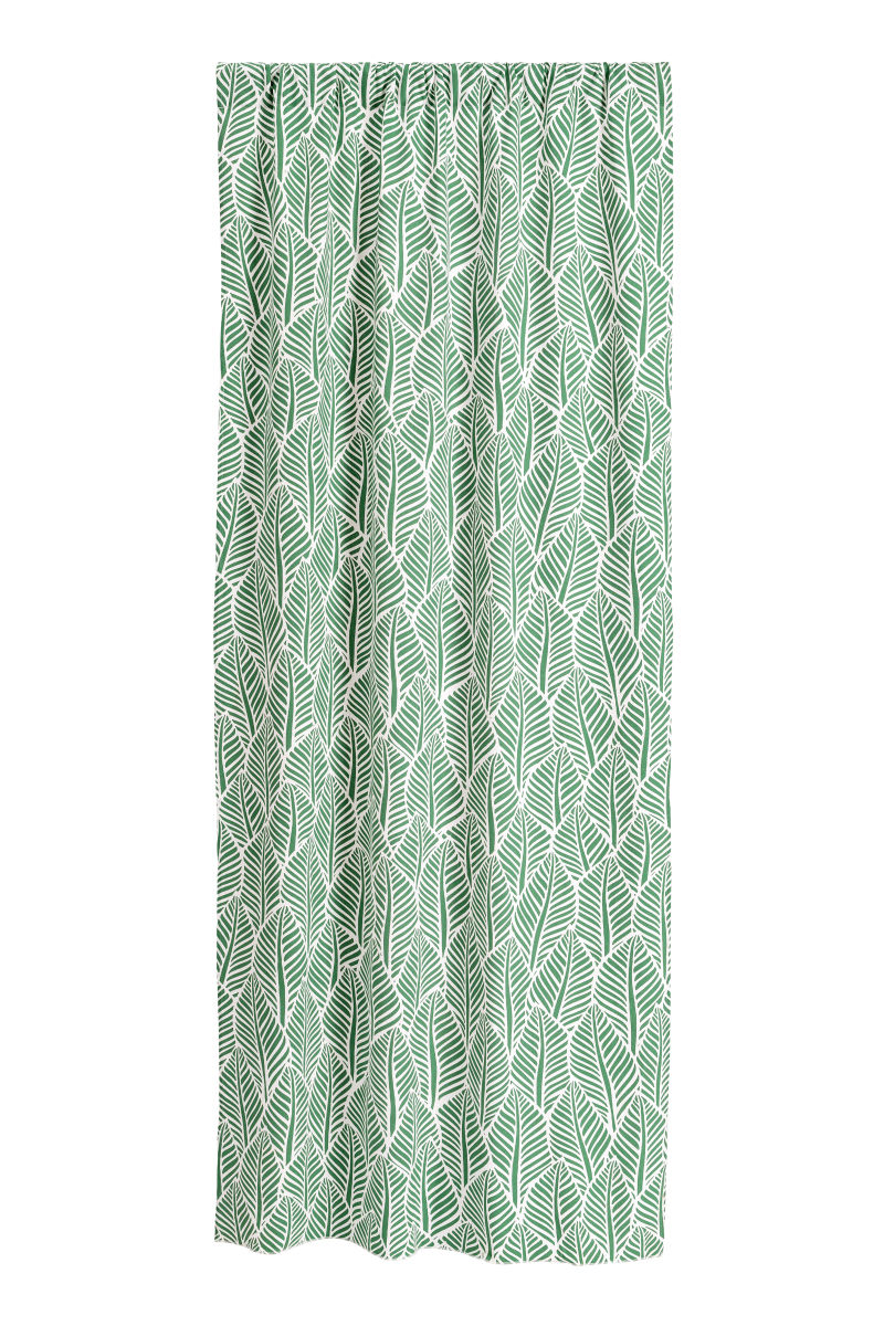 2-pack Patterned Curtains   Green/leaf   SALE   H&M US