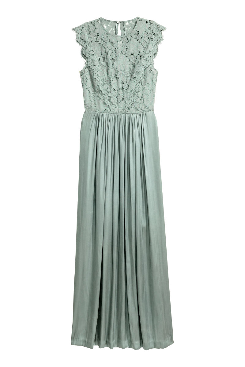 Long Dress | Dusky green | WOMEN | H&M US