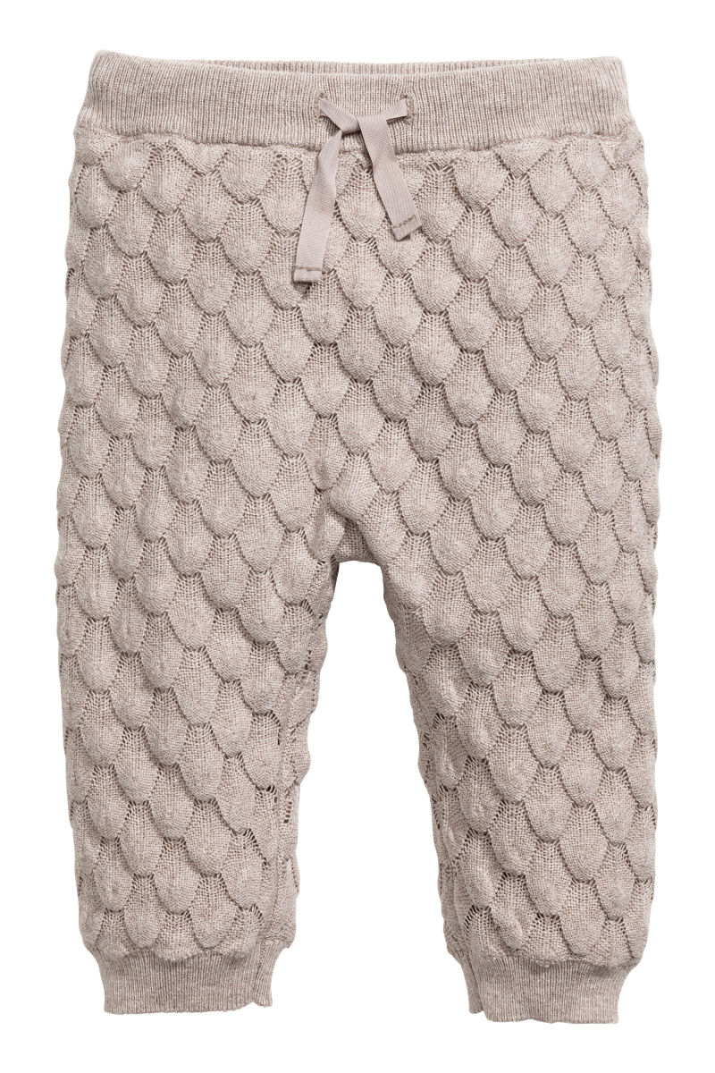 Knitting Art 4m : Textured knit cotton pants light taupe sale h m us