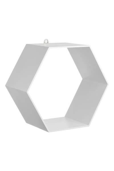 Hexagonal Wooden Shelf