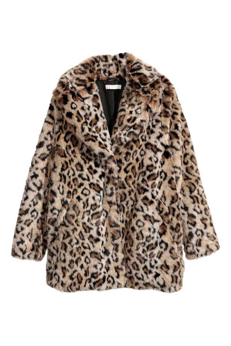 Faux fur jacket leopard print sale hm us details thecheapjerseys Choice Image