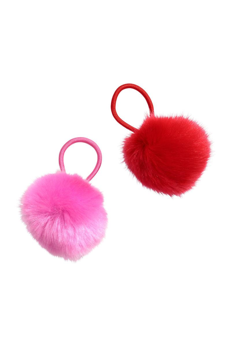 2-pack hair elastics | Red/Pink | KIDS | H&M AU