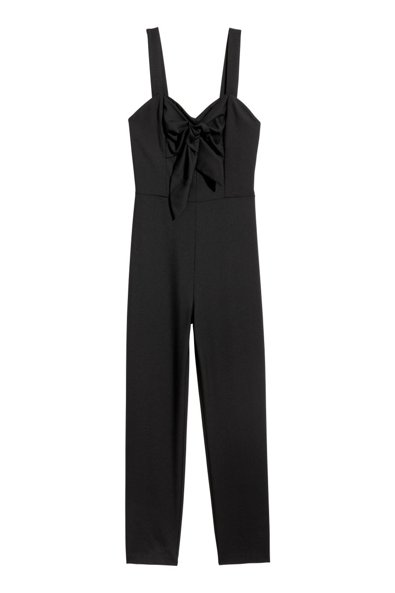 sleeveless jumpsuit black sale h m us. Black Bedroom Furniture Sets. Home Design Ideas