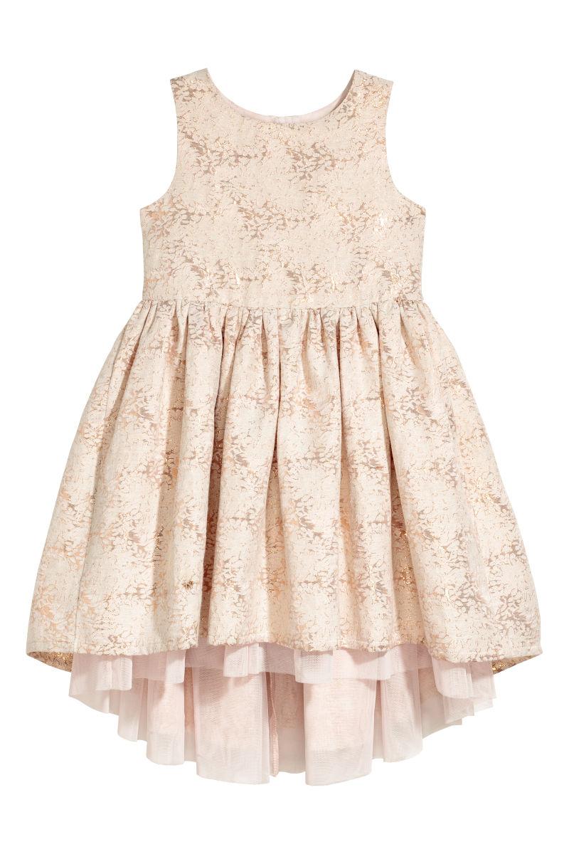 jacquard weave dress powder pink shimmering sale h m us. Black Bedroom Furniture Sets. Home Design Ideas