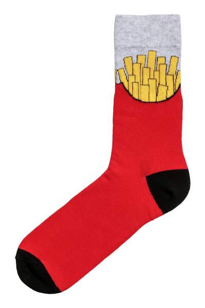 Socks with Intarsia Motif
