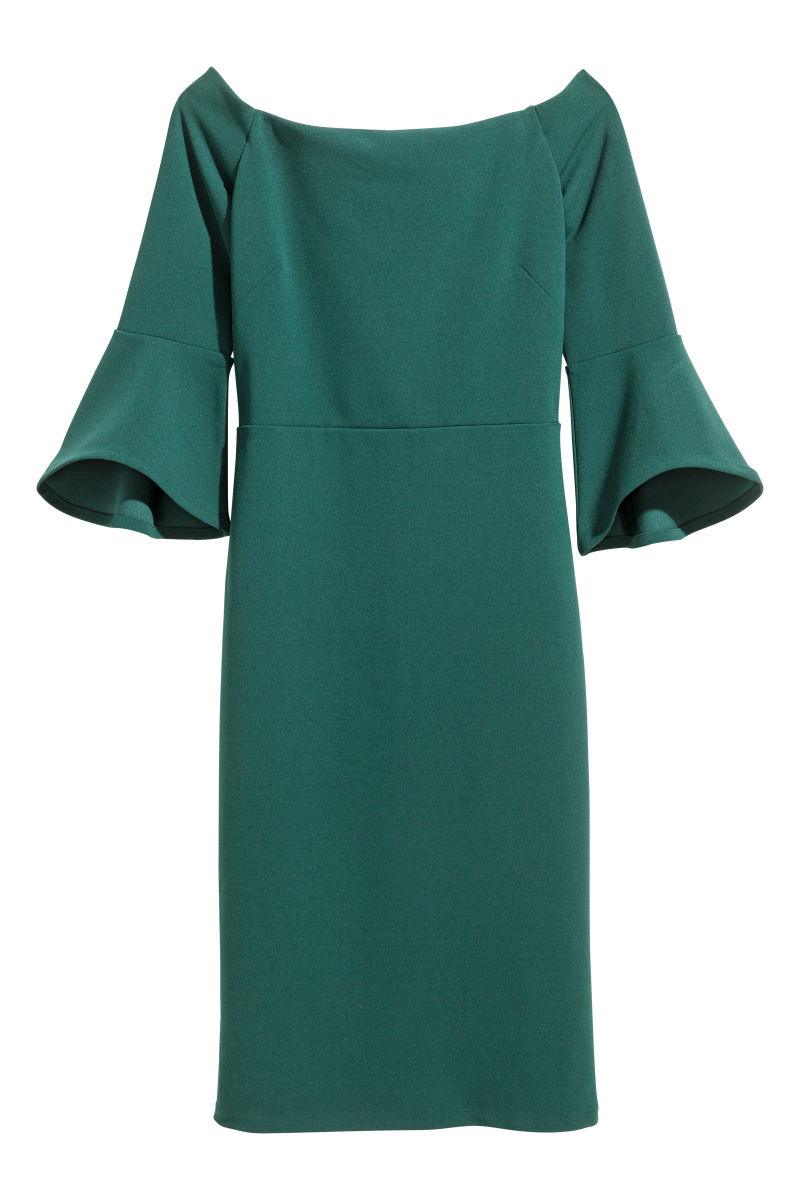 Off-the-shoulder Dress | Green | SALE | H&M US
