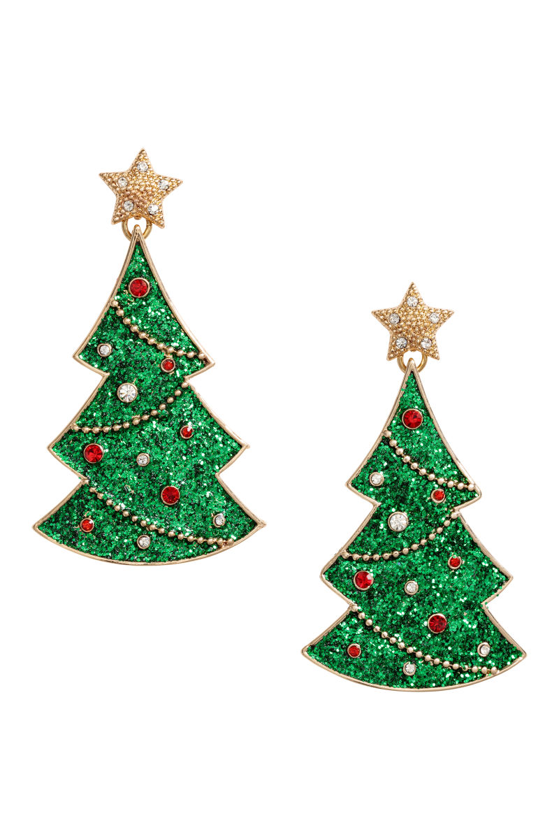 Christmas Earrings | Gold-colored/Christmas tree | SALE | H&M US
