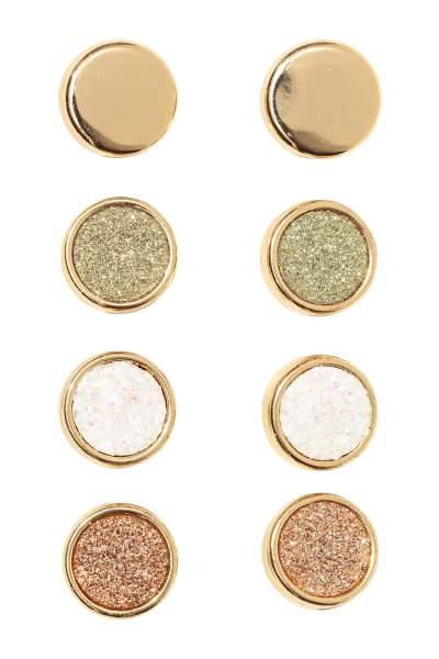 4 pairs Round Earrings