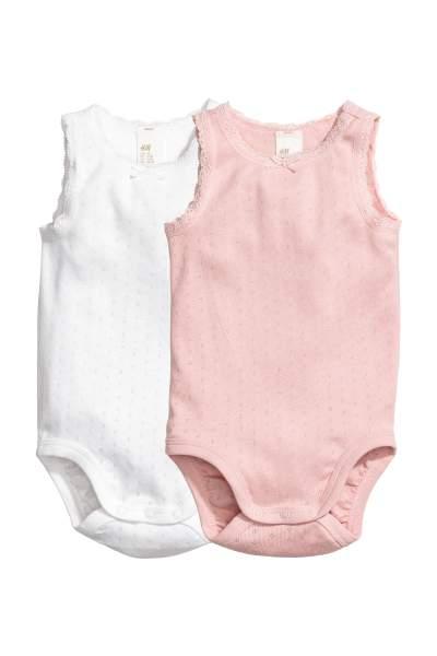 2-pack Sleeveless Bodysuits