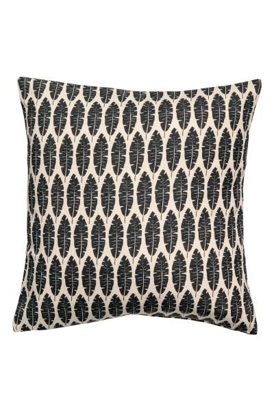 Leaf-print Cushion Cover